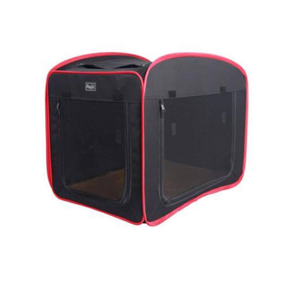 Black S54X33X35cm Black S54X33X35cm FH Tent Teddy Kennel Cat Nest Detachable Four Seasons Available Car Cat Dog Supplies (color   Black, Size   S54X33X35cm)