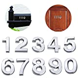 10 Pack 2'(Pack 0 to 9, Shiny Silver) self Adhesive Door House Numbers and Street Address Plaques Numbers for Residence and Mailbox Signs. (2' 10 Pack (0-9), Silver)