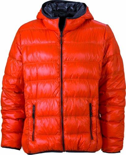 Men's amp; Arancione dark Nicholson Down carbon orange Jacket Uomo Giacca Daunenjacke James U7qxtdf7
