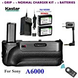 Kastar Infrared Remote Control Pro Vertical Battery Grip (Built-In 2.4G Wireless Contro) + 2 x NP-FW50 Replacement Batteries + Charger Kit for Sony ILCE-A6000 / A6000 Digital SLR Camera