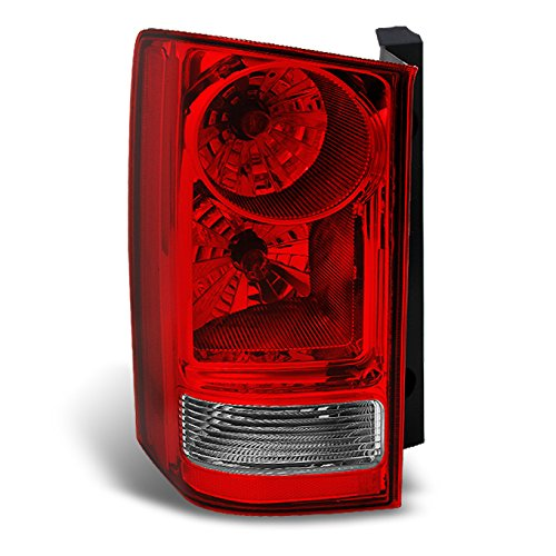 For Honda Pilot Red Clear Rear Tail Light Brake Tail Lamp Driver Left Side Replacement (Honda Brake Lamp)