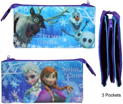 Disney Frozen – Estuche de 3 bolsillos de
