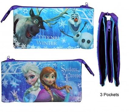 Disney Frozen - Estuche de 3 bolsillos de