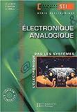 Electronique, terminale STI génie électronique 2, Analogique : Livre de l'élève