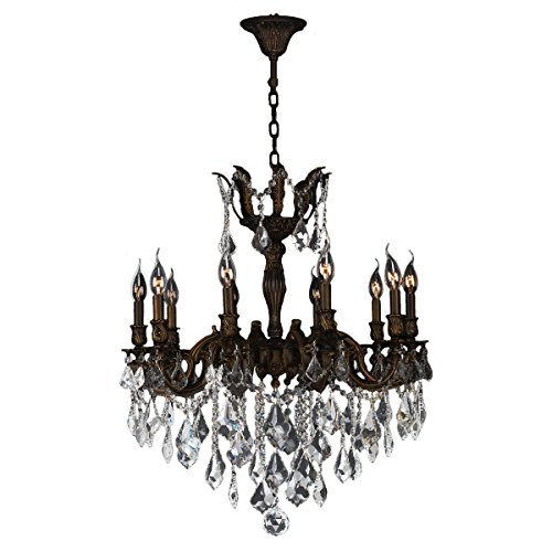 Worldwide Lighting W83340F26 Versailles Collection 10 Light Flemish Brass Finish (Versailles Collection Chandelier)