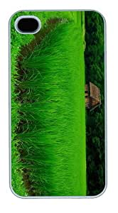 new cover green Rice PC White Case for iphone 4/4S
