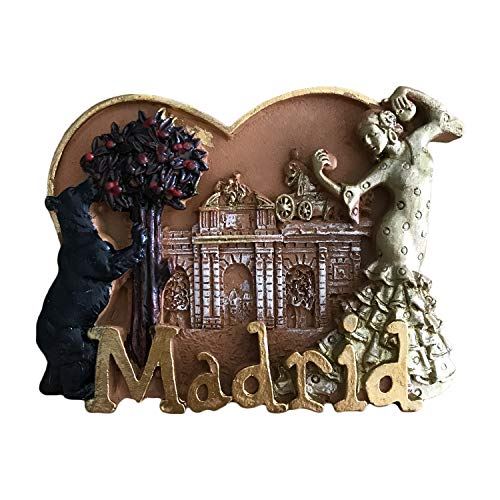 3D Madrid Spain Refrigerator Magnet Travel Sticker Souvenirs,Home & Kitchen Decoration Spain Fridge Magnet from China