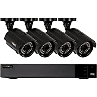 Q-See Surveillance System 4-Channel HD Analog DVR with 1TB Hard Drive, Black (QTH43-4CN-1)