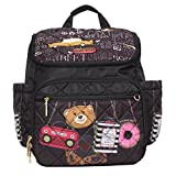 Nicole Lee Women's Baby Diaper Bag Multi-Functional Stroller Straps-Fun and Cute Backpack, Pink, One Size