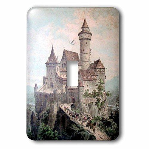 - 3dRose lsp_212658_1 Print of Medieval Castle Color Illustration Single Toggle Switch
