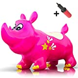 WALIKI TOYS Bouncy Kent the Rhino Inflatable Horse Hopper (Space Hopper, Jumping Horse, Ride-on Bouncy Animal)