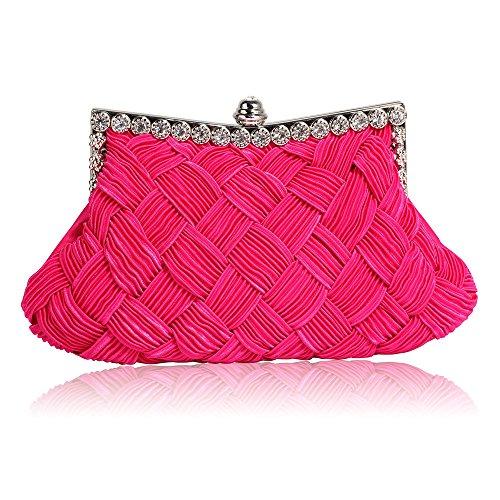 Pink Look New Bridal Women 1 Chain Diamante Purse Clutch Ladies Handbag Party Designer Evening With Design 1HZ4w1qf
