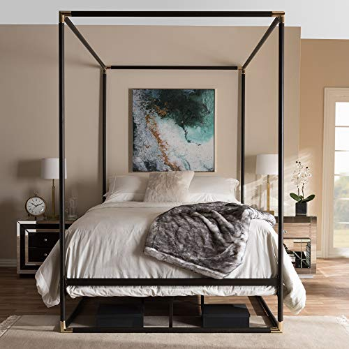 Baxton Studio Contemporary Canopy Queen Bed ()