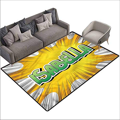 Dining Table Rugs Isabella,Retro Style Cartoon 64