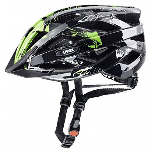 Uvex Fahrradhelm i-vo C, schwarz-grün, 52-57, 4104171215