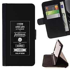 BullDog Case - FOR/Sony Xperia m55w Z3 Compact Mini / - / LOVE LIFE - TYPOGRAPHY /- Monedero de cuero de la PU Llevar cubierta de la caja con el ID Credit Card Slots Flip funda de cuer