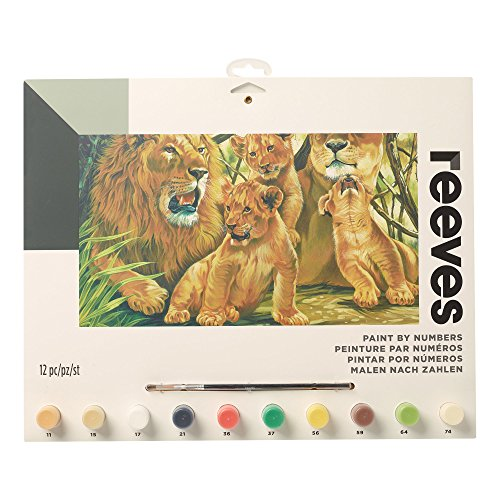 Reeves Paint by Numbers-Large, Pride of Lions