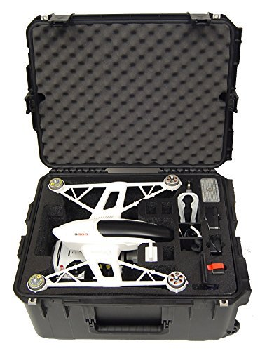 Microraptor Pro Case - Hard Carry Case fits the Yuneec Q500 and accessories (Black Case, Black Foam) by Microraptor Pro Cases