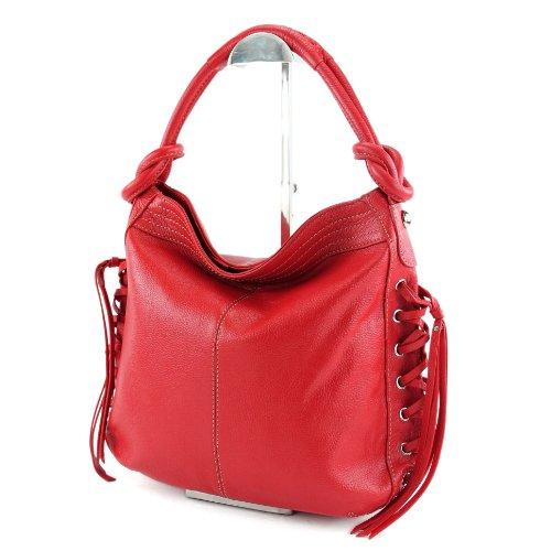 À Rouge Femme Porter Italy Made Sac Pour L'épaule FqxURg6