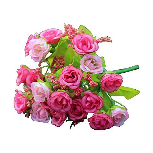 Artificial Rose Flower - 21pcs Artificial Rose Flower Bouquet Heads - Lavender Decorations Canvas Book Sunflower Vase Cutter Real Flower Pins Purple Necklace Gold Bridesmaids Tape Materials
