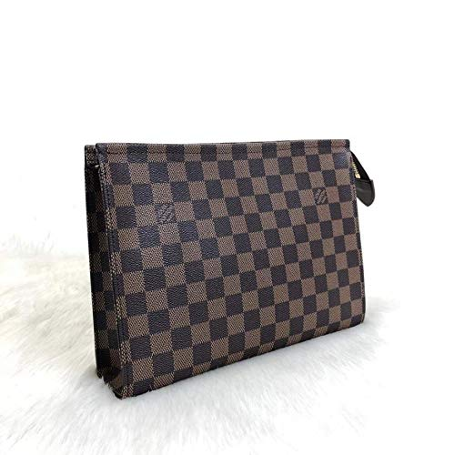 252fff7387b1 L*uis V*itton Brown Damier Ebene Leather Toiletry Bag HandMade by