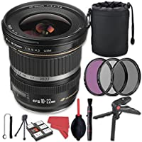 Canon EF-S 10-22mm f/3.5-4.5 USM Lens + Deluxe Accessory Bundle