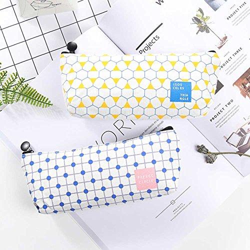 Holo Cute Kreative Studenten Bleistift Fall einfache große Kapazität Briefpapier Leinwand Bleistift Fall Lernen Lieferungen(B) InuXw