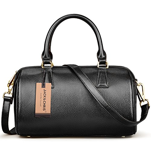 Jack&Chris Handbags Top Handle Bag Crossbody Bags for Women,WBSF018 - Chris Designs Black