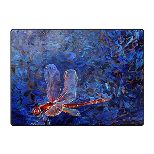 JONHBKD Funny Dragonfly Doormat Decorative Floor Mat Kitchen,Bathroom