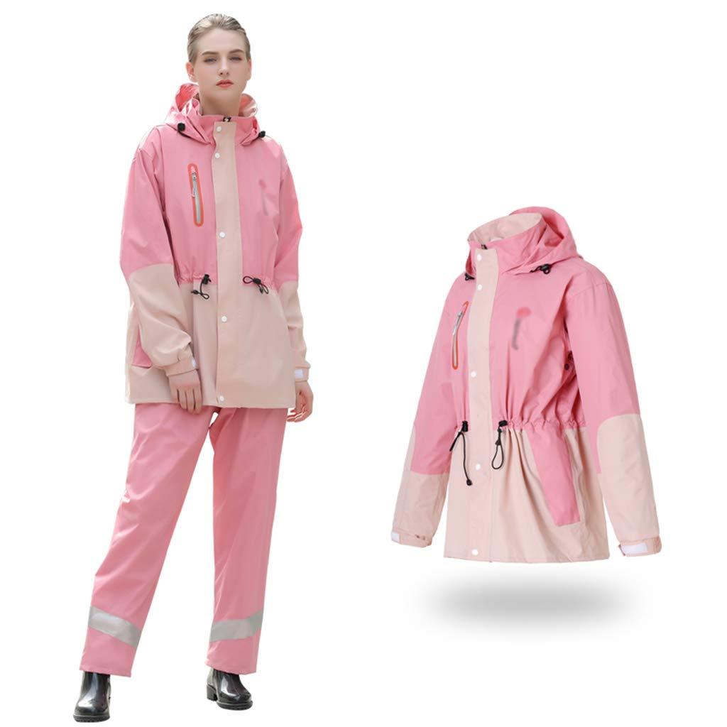 rose M ROSIDA Imperméable Pantalon de Pluie Costume Longue Section Corps épaississeHommest équitation Hommes et Femmes Batterie Moto imperméable Veste,rose,XXXXL