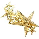 Gold Plated Q&Q Fashion Wedding Prom Party Shooting Star Hair Pin Clip Cuff Dress Wrap Claw Snap Barrette