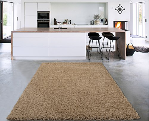 Sweet Home Stores Cozy Shag Collection Solid Shag Rug Contemporary Living & Bedroom Soft Shaggy Area Rug, 60