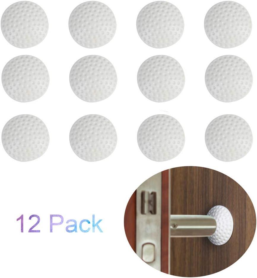 Poign/ées de Porte Pare-Chocs 6 couleurs Butoirs de Porte pour Porte Butoir en Caoutchouc Lot de 12 Protections Murales Autocollantes en Silicone