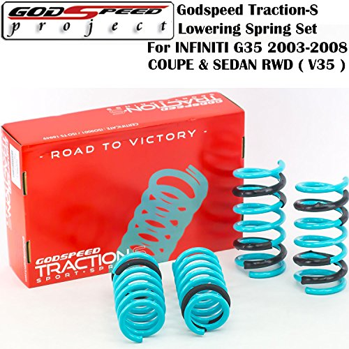 SPRINGS FOR INFINITI G35 2003-2008 COUPE SEDAN RWD ONLY( V35 ) GSP (04 Infiniti G35 Sedan)