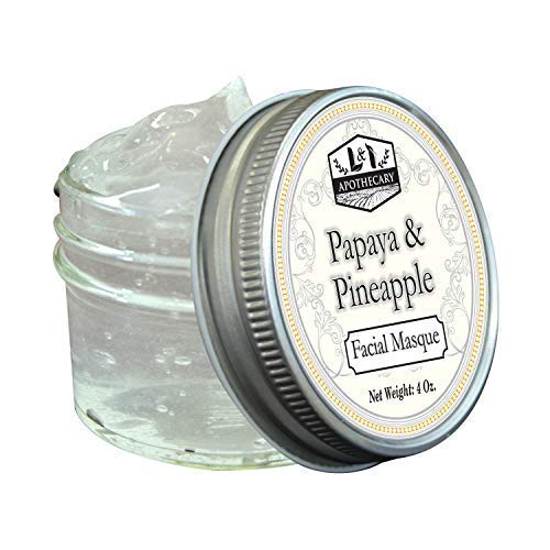 4 fl. Oz Papaya & Pineapple Facial Masque, Organic Ingredients, Loaded with enzymes, Mild gel exfoliating masque, gentle and help reveal, soft, rejuvenated skin