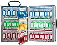 Wall-Mounted Key Cabinet with Handle, Large Capacity of The Safety Key Box, Key Lock Box with 22-100 Hooks, Ke