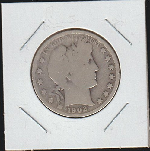 1902 O Barber or Liberty Head (1892-1915) Half Dollar Very Good