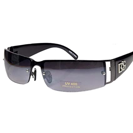 1fdedb88473 Image Unavailable. Image not available for. Color  NEW DG MENS WOMENS RECTANGULAR  RIMLESS DESIGNER SUNGLASSES SHADES EYEWEAR ...