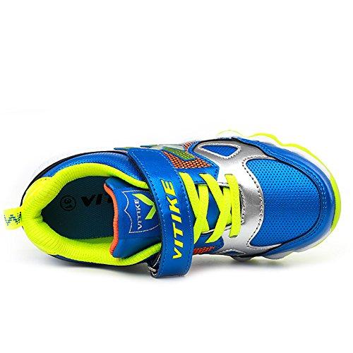 ASHION Zapatos para caminar Zapatillas de Running para Asfalto para Niños Verde