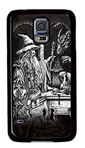 Samsung Galaxy S5 Case and Cover Wizard and Dragon PC case Cover for Samsung Galaxy S5 Black