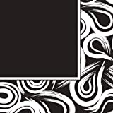 Creative Converting Coordinates Collection 16 Count Lunch Napkins, Black Velvet Swirl offers
