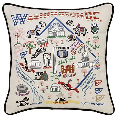 Catstudio Washington D.C. Pillow by catstudio
