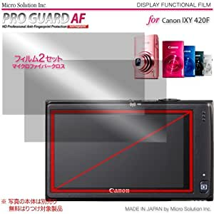 Micro Solution Digital Camera Anti-Fingerprint Display Protection Film (Pro Guard AF) for Canon PowerShot ELPH 320 HS (IXY 420F / IXUS 240HS) // DCDPF-PGIX420