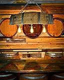 Wine Barrel Pool Table / Home Bar Lighting with Edison Bulbs