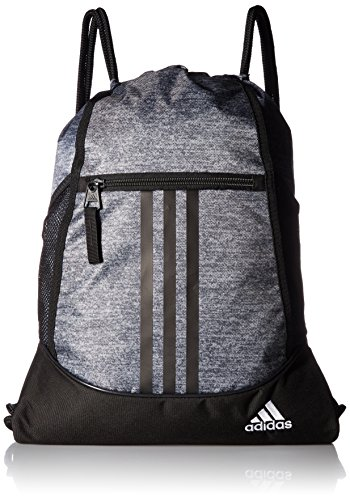 - adidas Alliance II Sackpack, Onix Jersey/Black/White, One Size