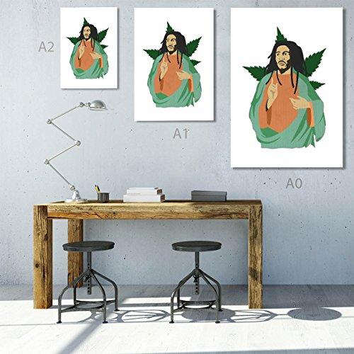 White Cannabis Leaf Matte//Glossy PosterWellcoda