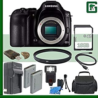 SAMSUNG NX30 Mirrorless Digital Camera Body Only + 16GB Green's Camera Bundle 2