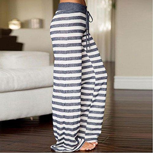 Boho Leg Danza Stampa Donna Harem Wide Pantaloni Sportivi Grigio Hop Alta Baggy Pantalone Floreale Vita Hip Minetom Yoga Hippie 10 Lunghi Estivo Pants w7HAqxC