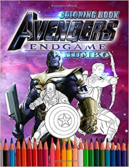 Avengers End Game Jumbo Coloring Book Marvel Avengers Coloring Book
