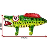 Premium Decorative Wooden Art from Guatemala. Hand Carved Decor Crocodile Made With 100% Real Wood. Perfect For Home, Living Room & Bedroom Decorations